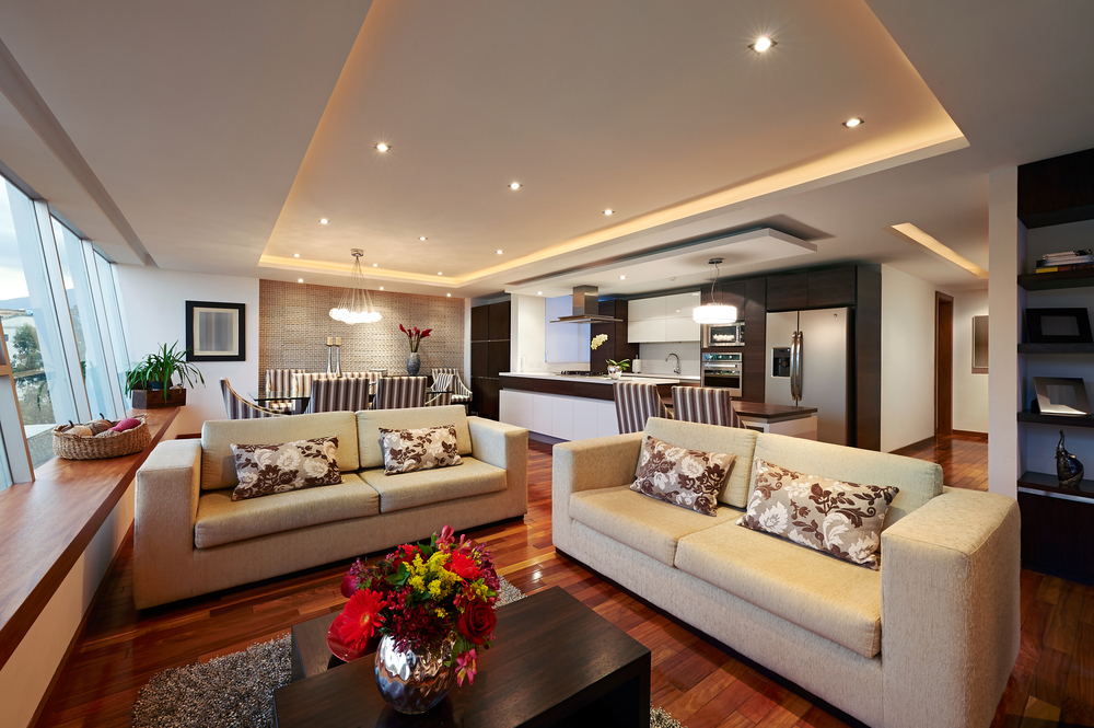 Etonnant Lighting A Living Room With Recessed Lights