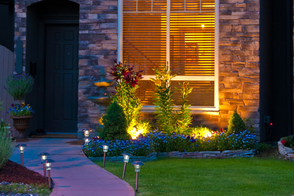 Landscape lighting adds beauty and safety