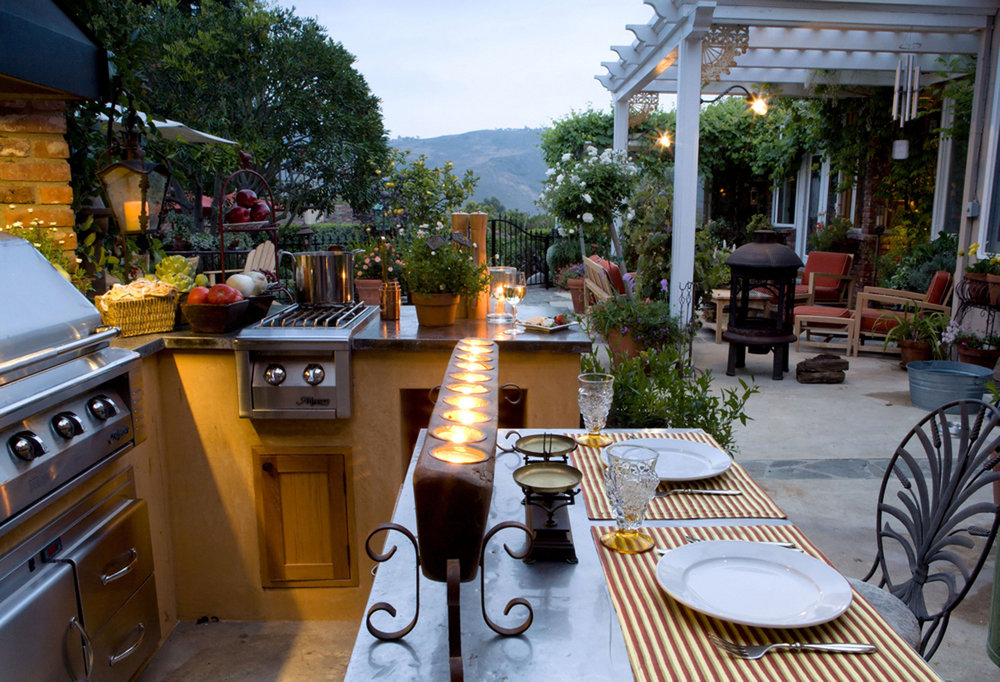 Patio Lighting creates a mood for relaxing and entertaining