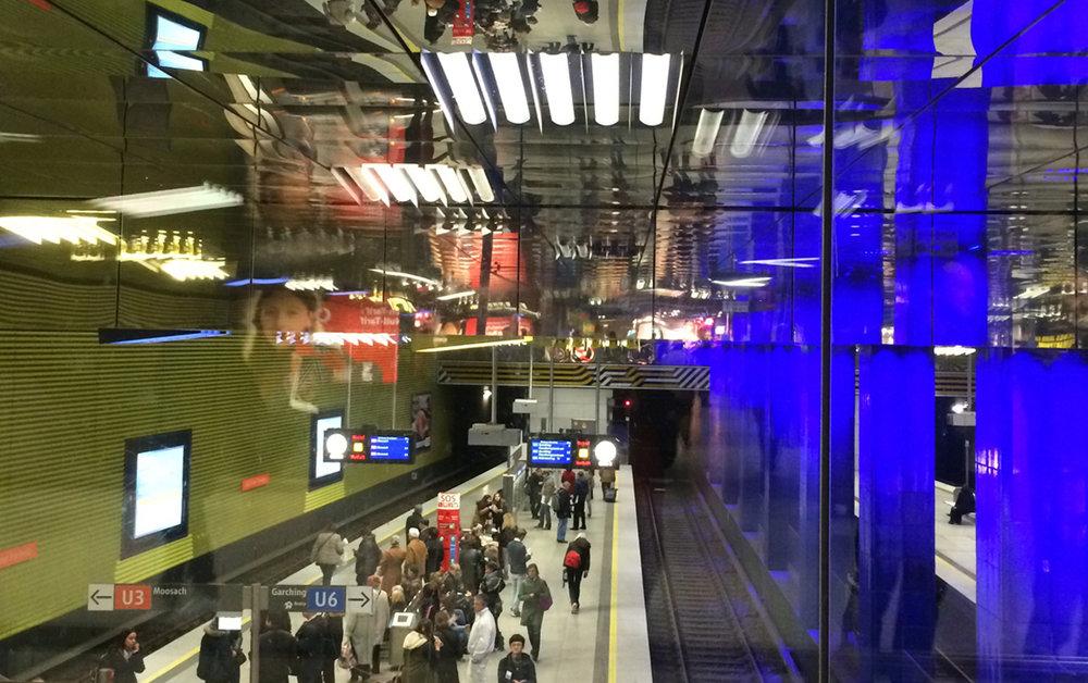 Ingo Maurer Muenchener Freiheit subway station