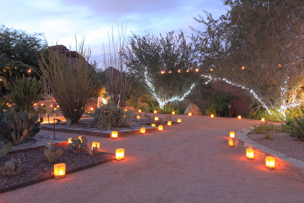 Luminarias make festive temporary path lights