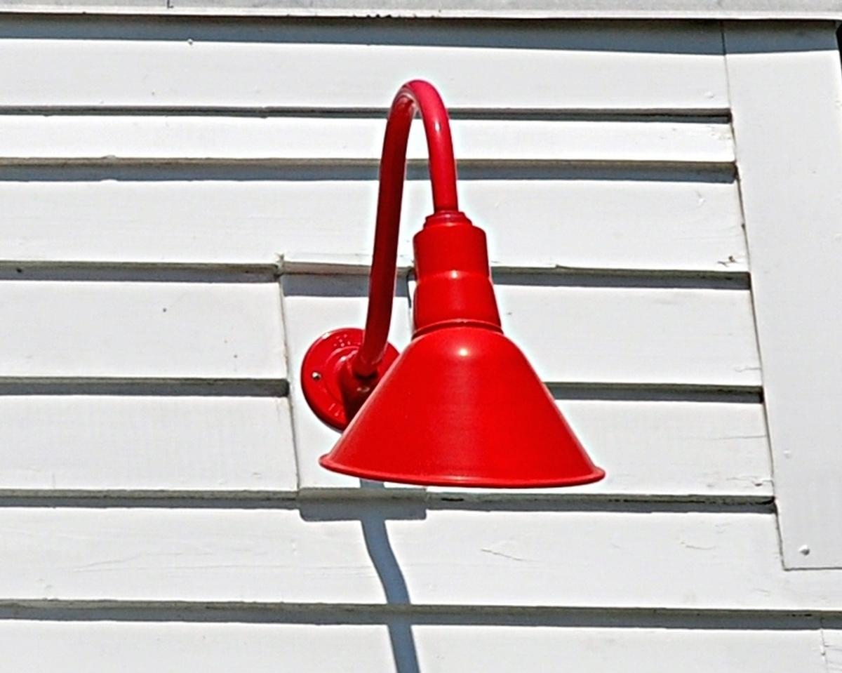 red barn light white cabinet redbarnlight industrial warehouse shades in the spotlight light my nest