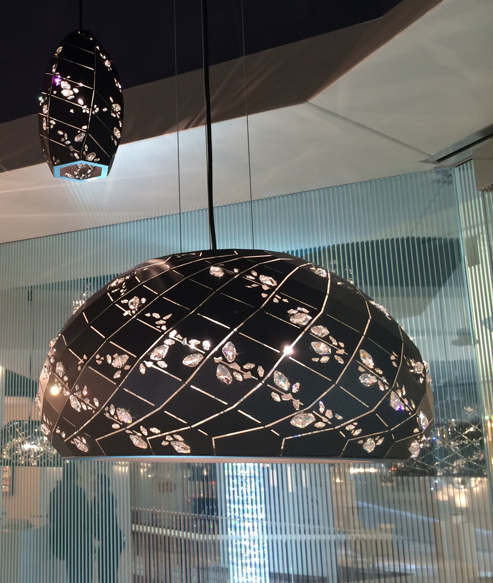 The Schonbek showroom with Swarovski crystal is a delight