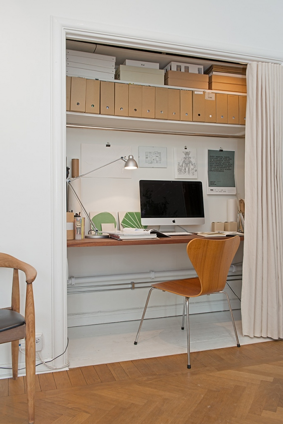 Tiny home office - via Alvhem