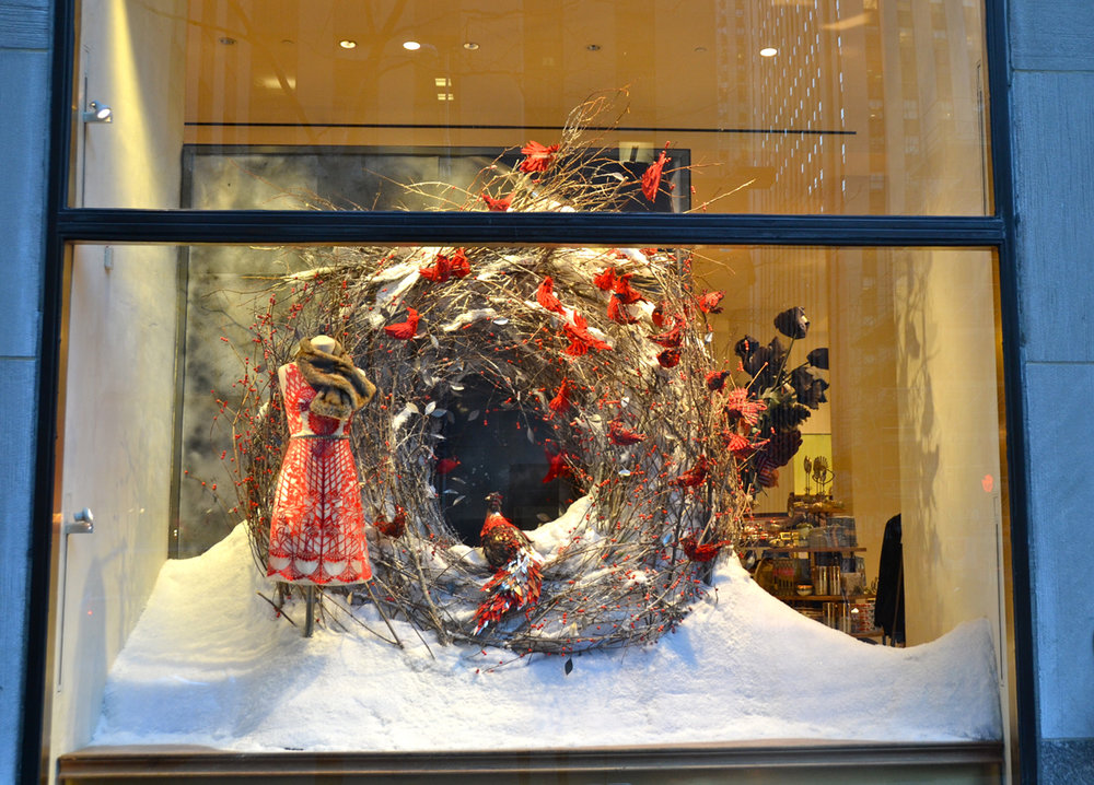 Anthropologie Holiday display viaVictoria-Lipov-Shutterstock.com