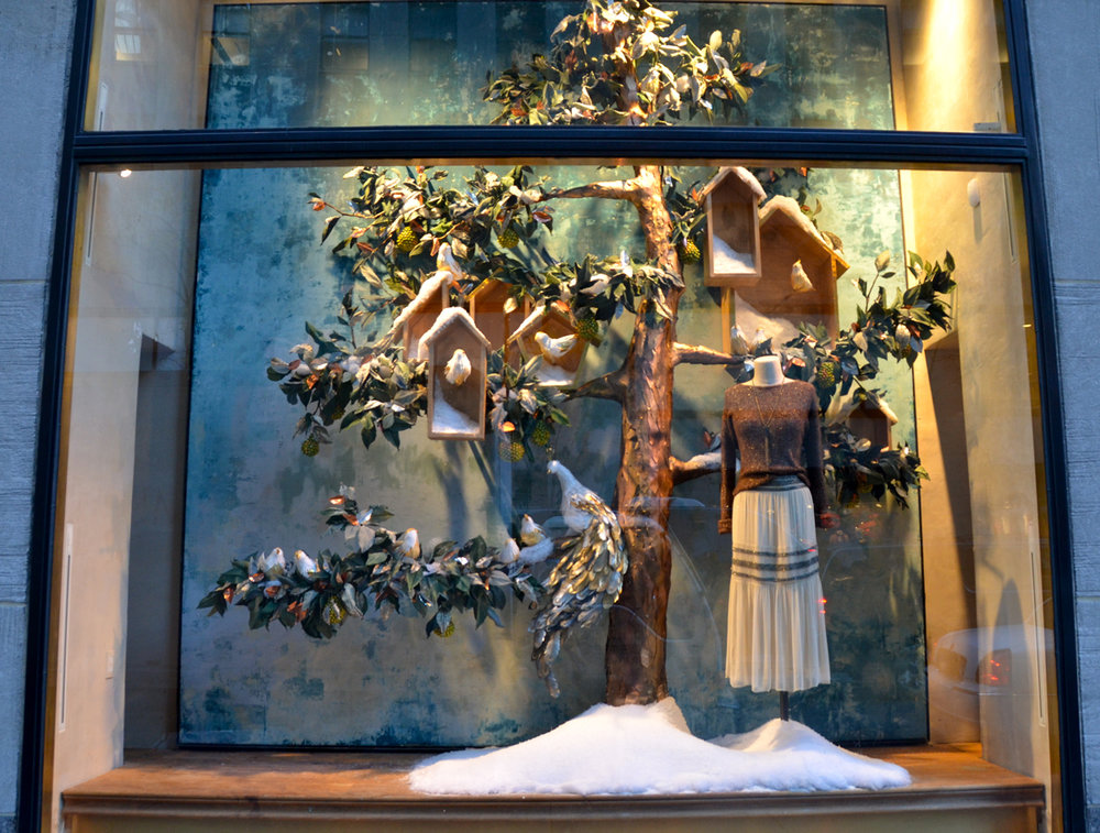 Anthropologie Holiday display via Victoria-Lipov-Shutterstock.com