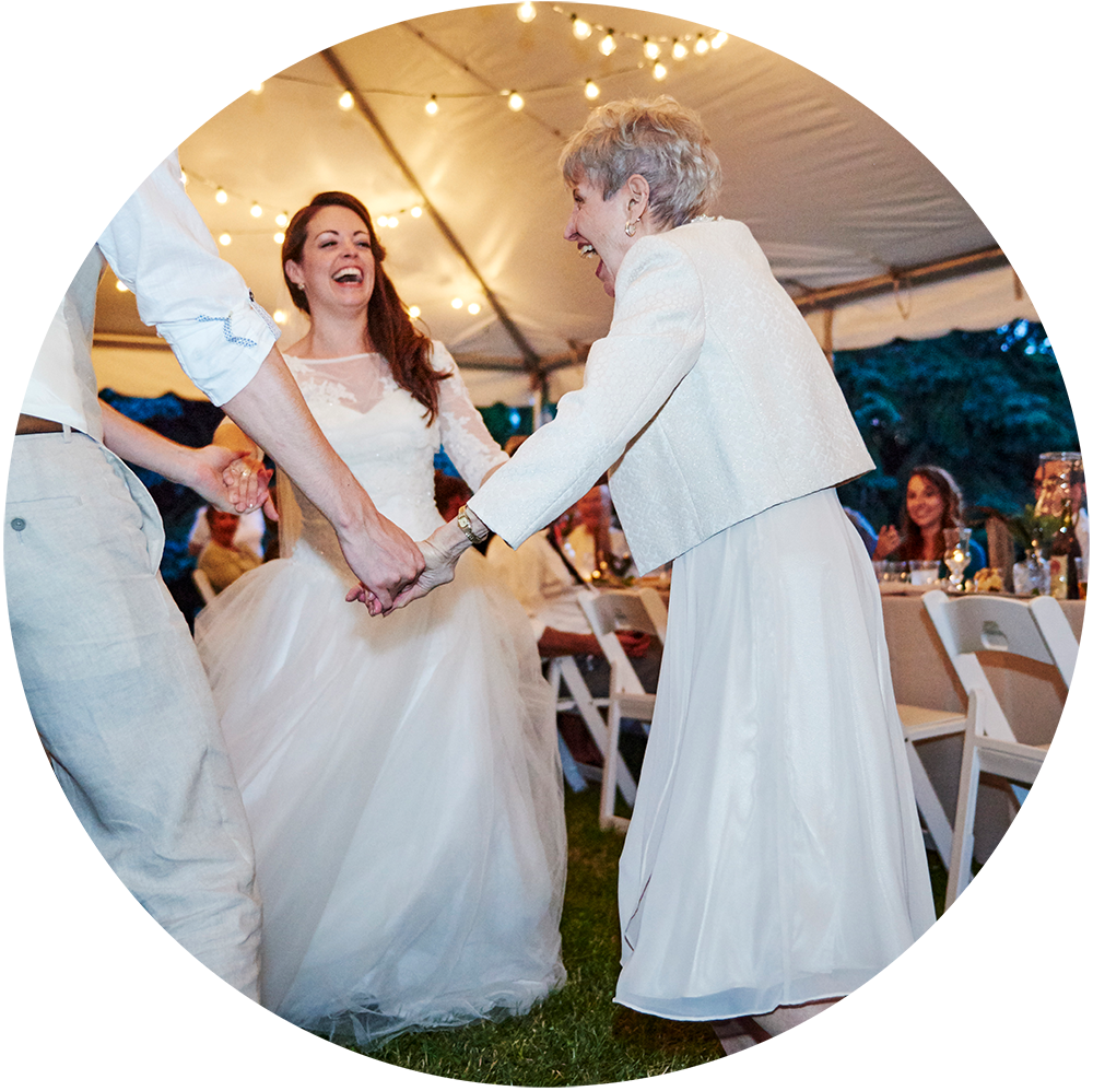A Wedding Photographer's Wedding Day: That moment when your grandma joins in on your first dance. That's amore! (Photo: Kristi Jan Hoover)