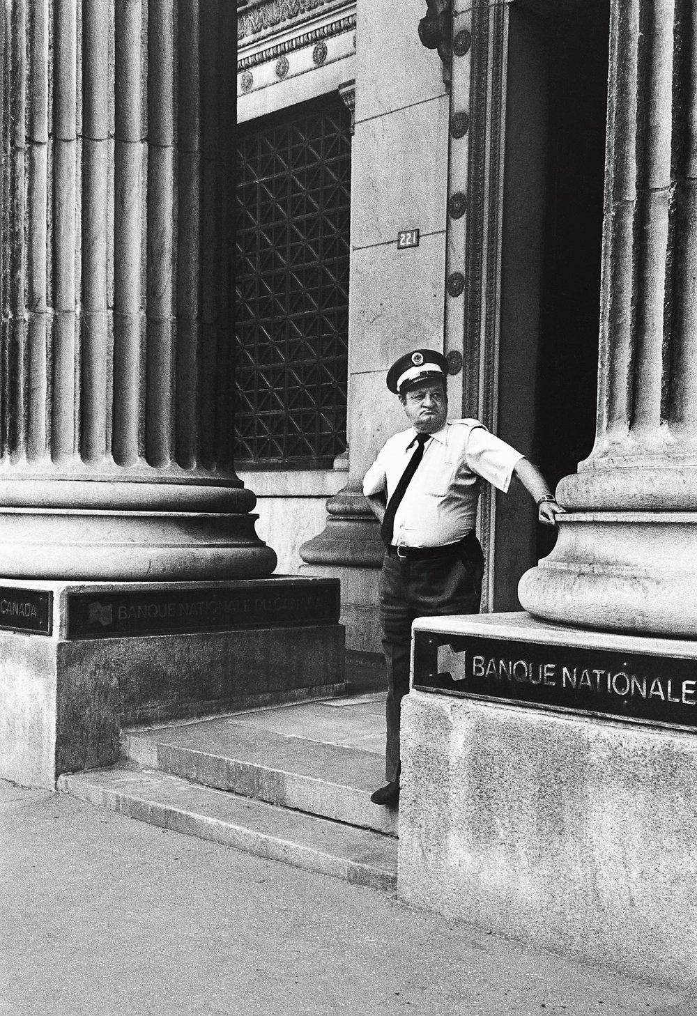 Le gardien de banque, Montréal 1981