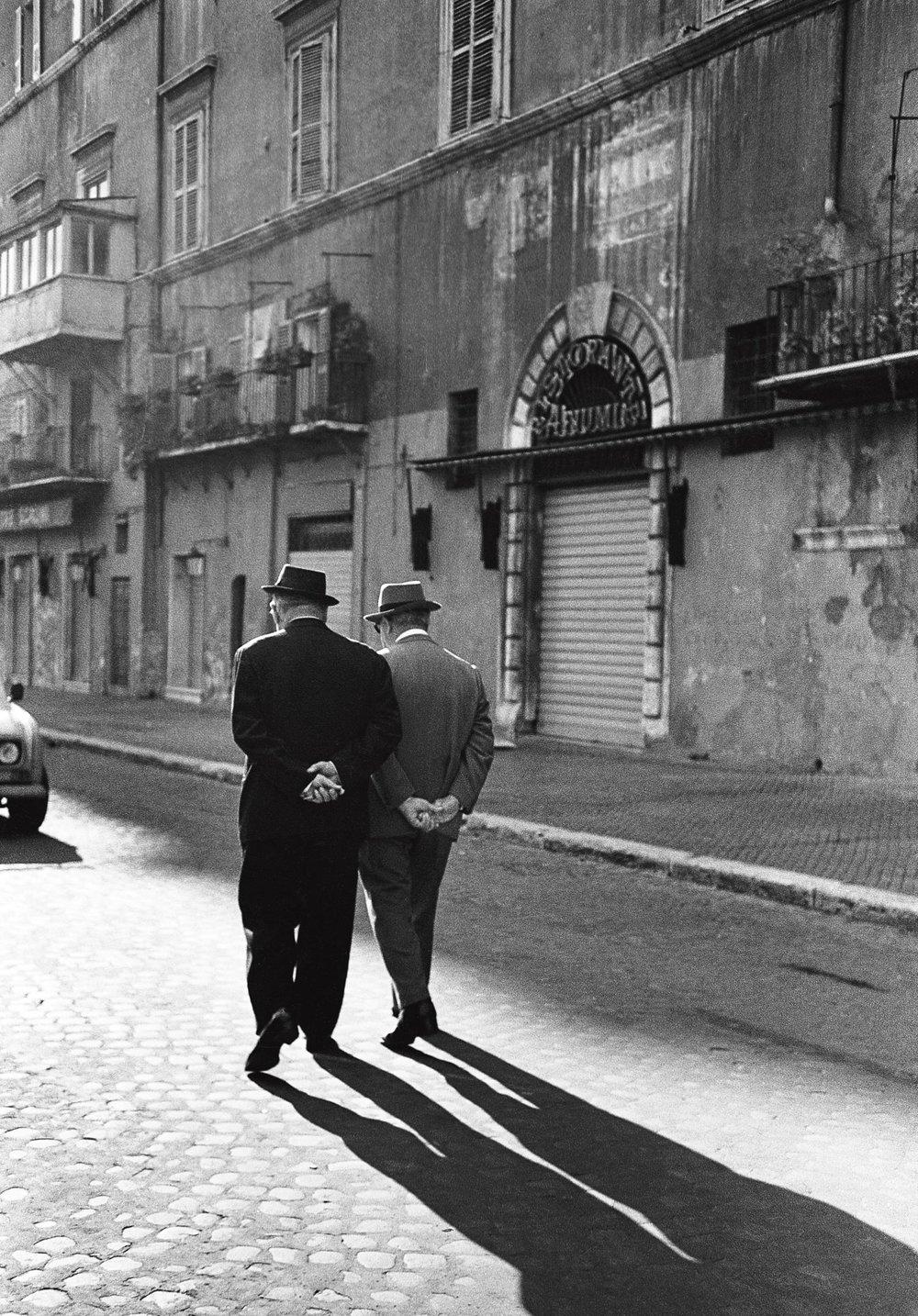 Les promeneurs, Rome 1984