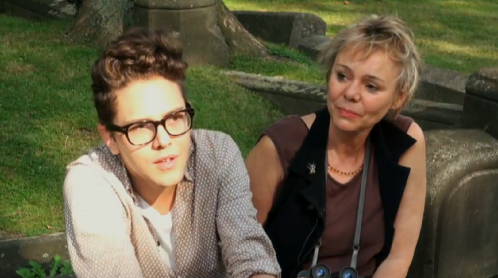 Xavier Dolan, cinéaste et Odile Tremblay, journaliste