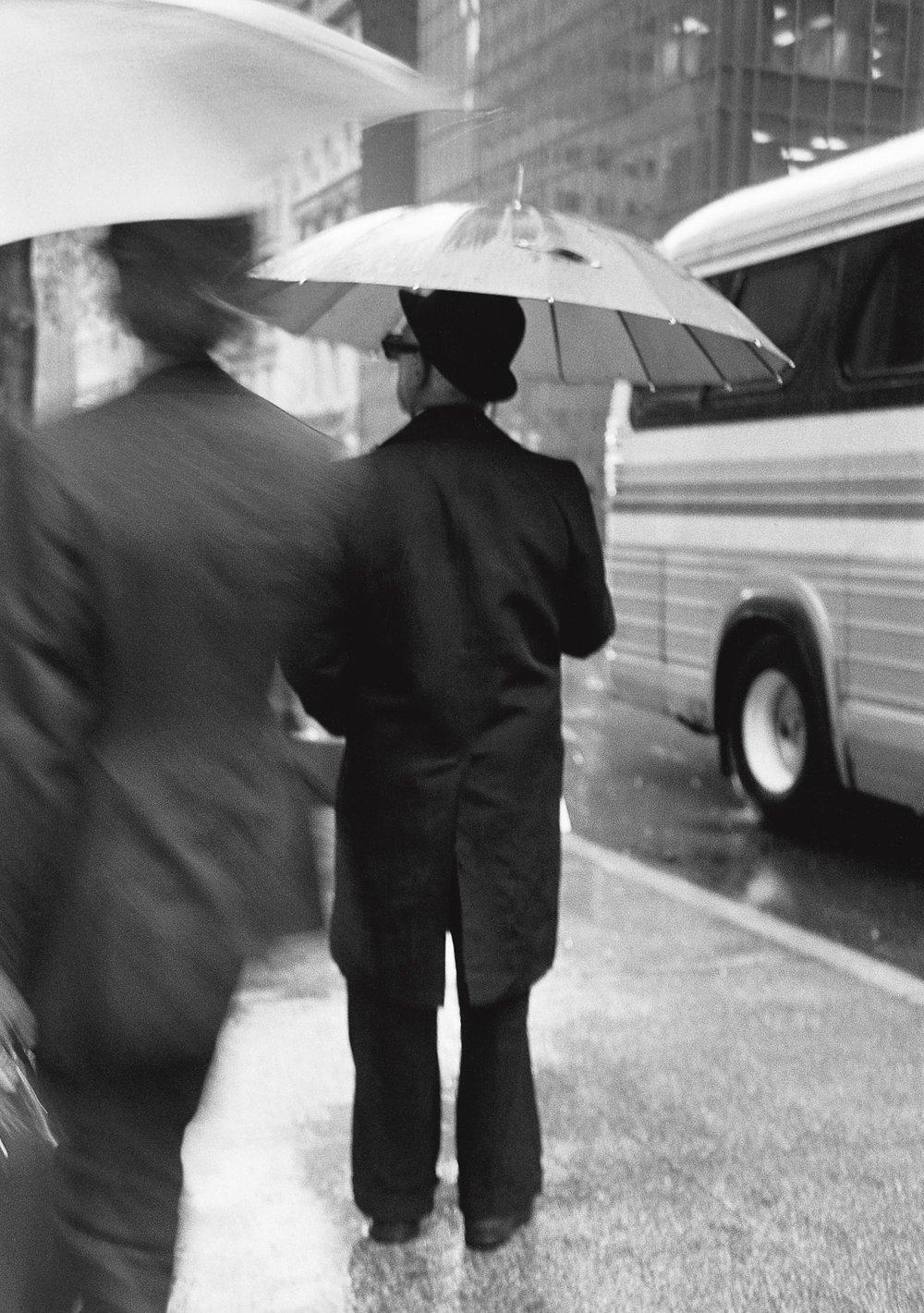 Ombres et parapluies, New York 1982