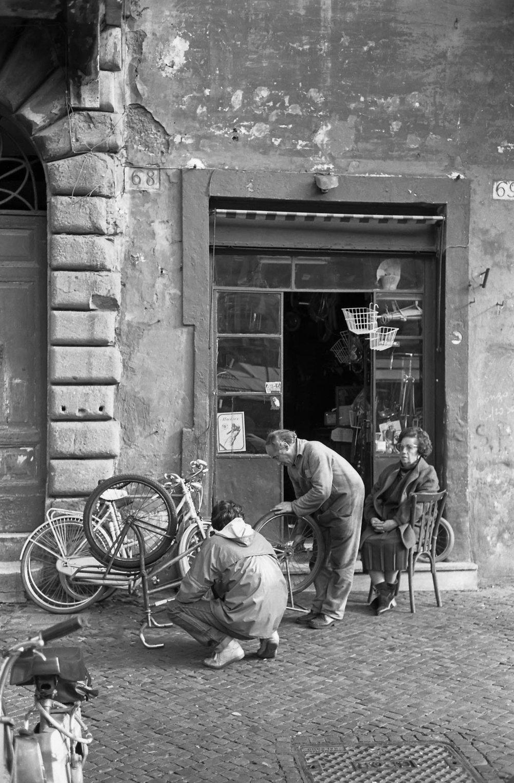 L'atelier de bicyclette, Rome 1984