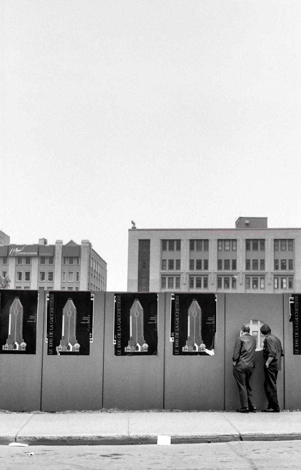 Construction, Montréal 1989
