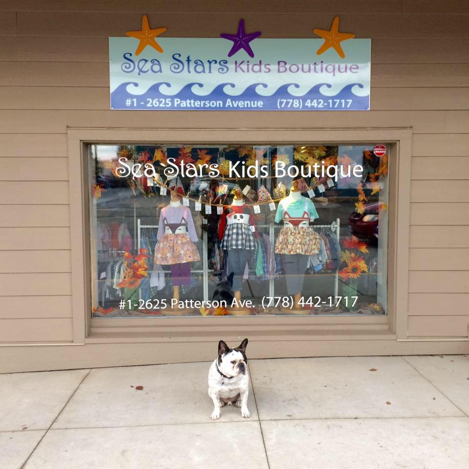 Our Store - #1 - 2625 Patterson AveArmstrong, B.C., Canada+1 (778) 442-1717seastarskidsboutique@gmail.comOpening HoursTuesday to Saturday: 9:30AM - 4:30PMClosed on Sunday and MondayDirections to Sea Stars Kids Boutique
