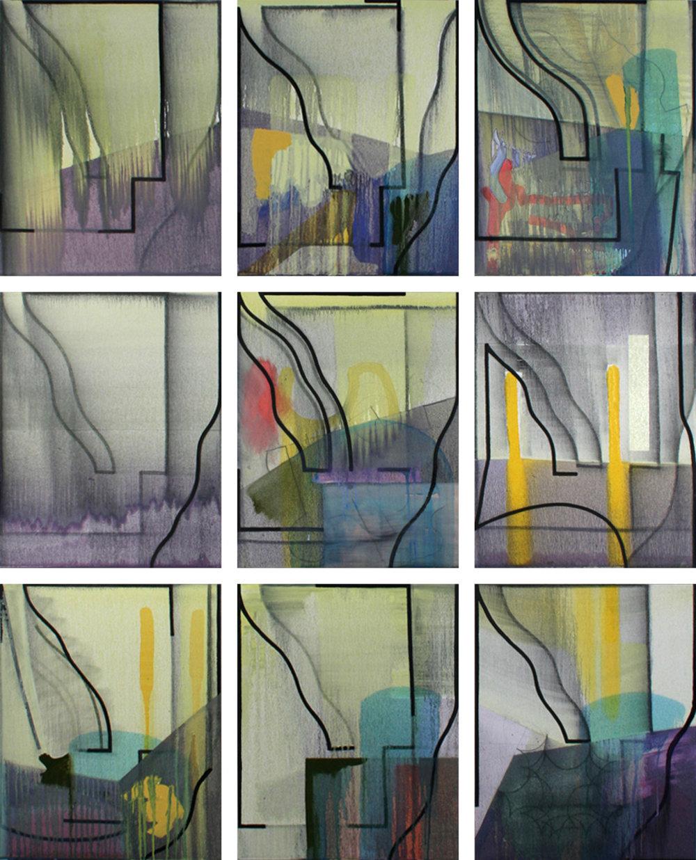 Late November, 9 panels, 2012