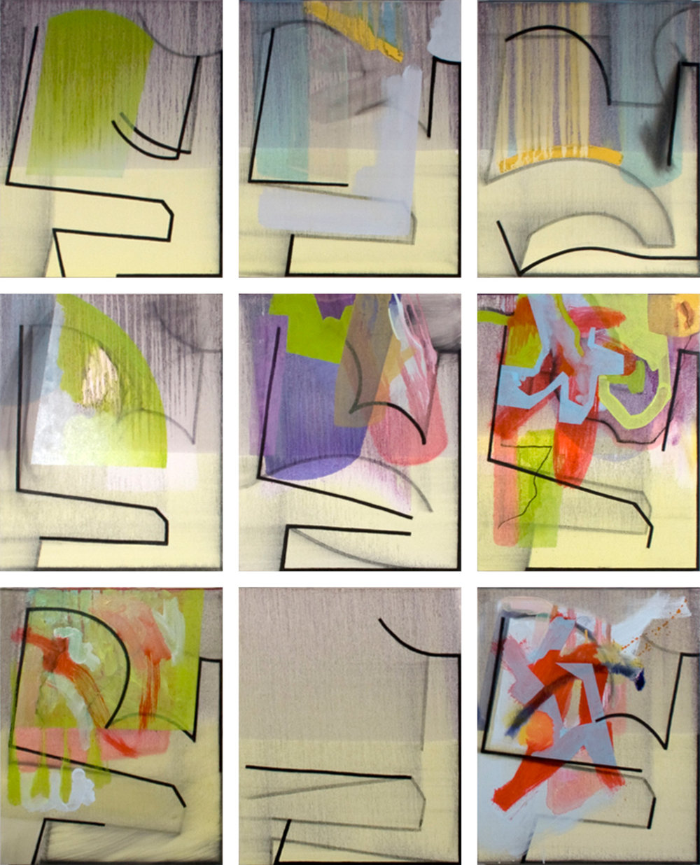 Late January, 9 panels, 2013
