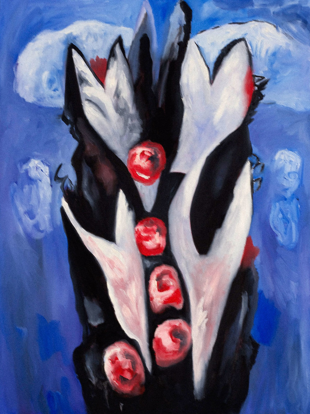 After Marsden Hartley Roses, 40x30, oil on canvas