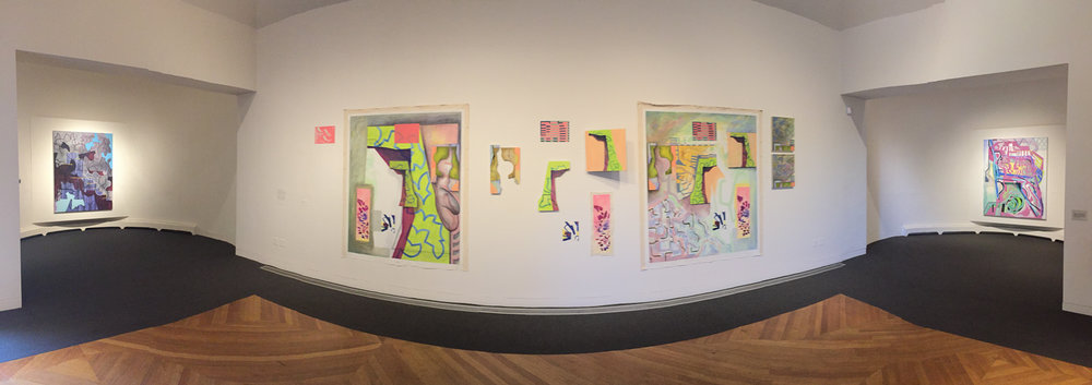 Full installation at deCordova, panoramic view