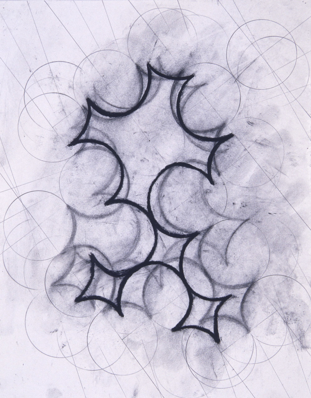 "9/20 #2, 2000, 11x14"", charcoal & wax on paper"