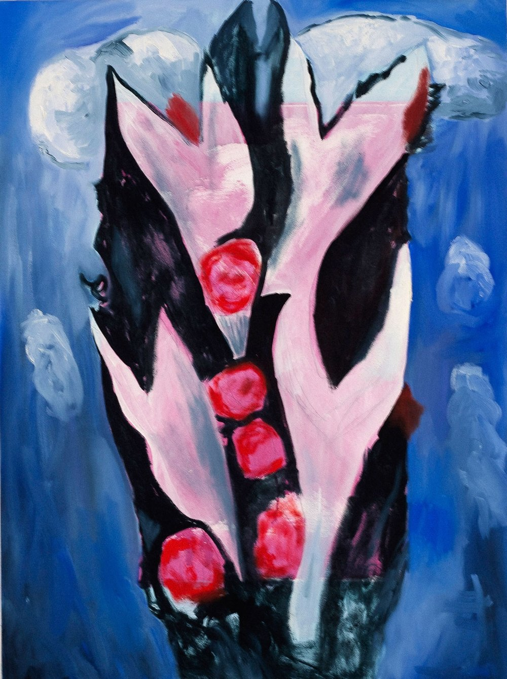 After Marsden Hartley Roses, 40x30