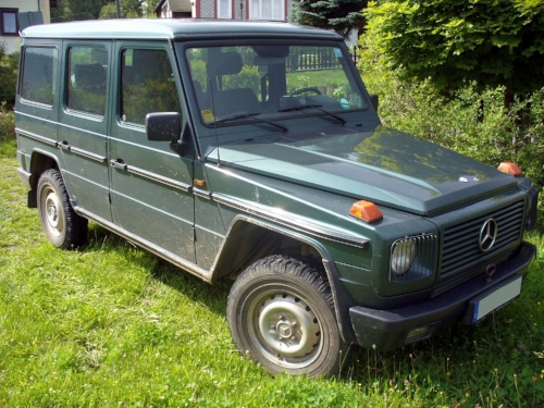 1980's G Wagen, parked on someone's lawn.                                     Photo by Thomas Doerfer