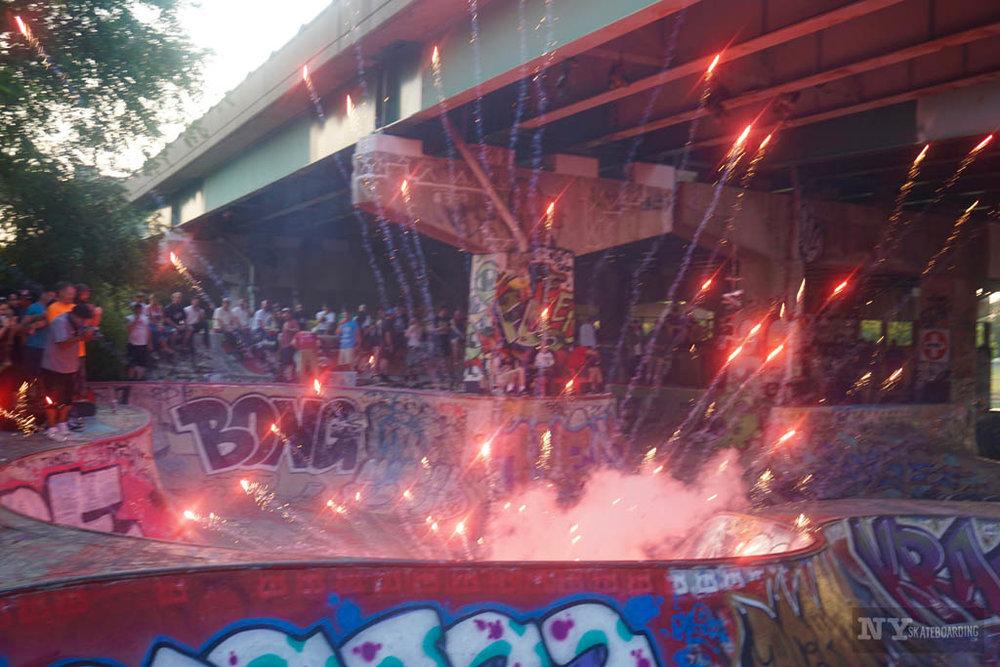 FDR skatepark fireworks