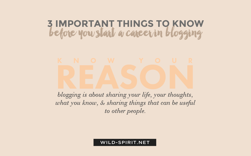 career in blogging tip 1
