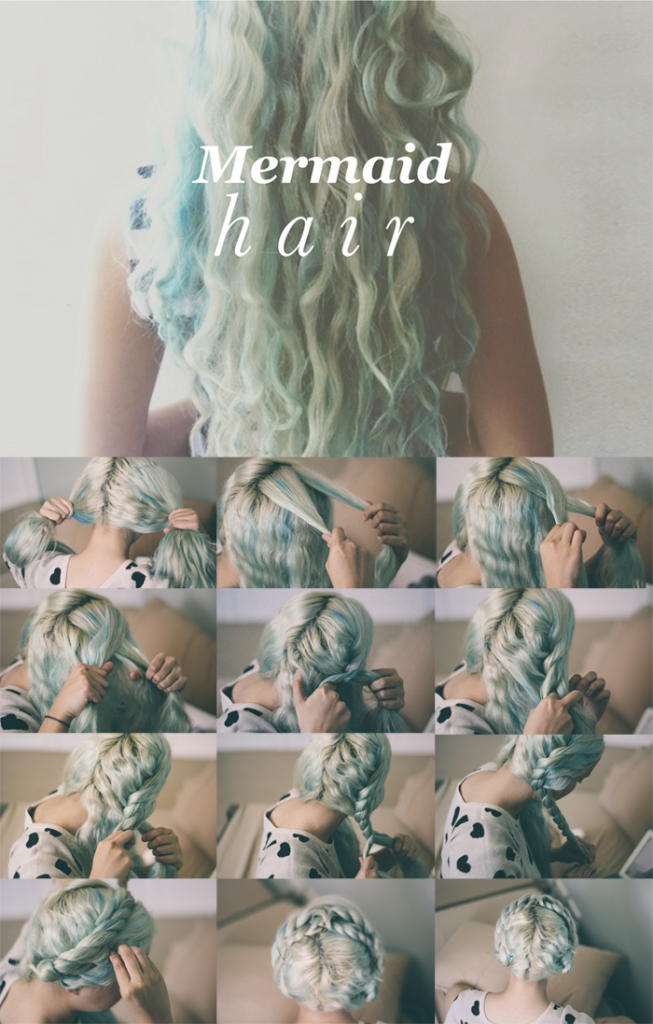 mermaid hair tutorial
