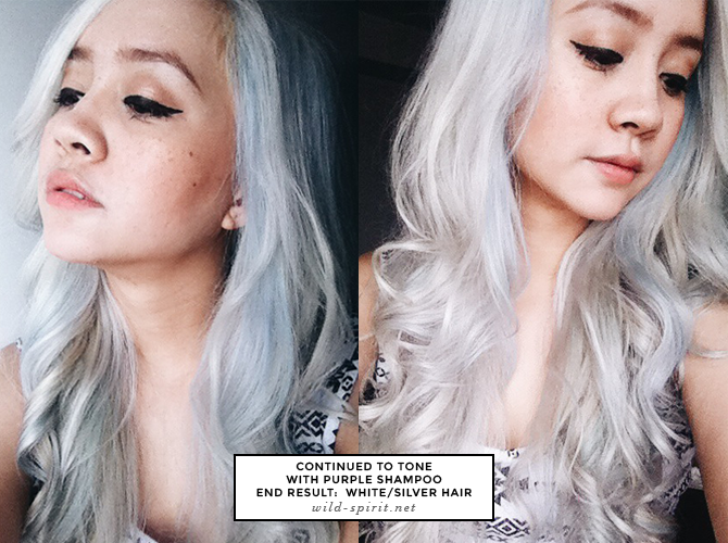 Guide How To Get Platinum White Silver Hair Camie Juan