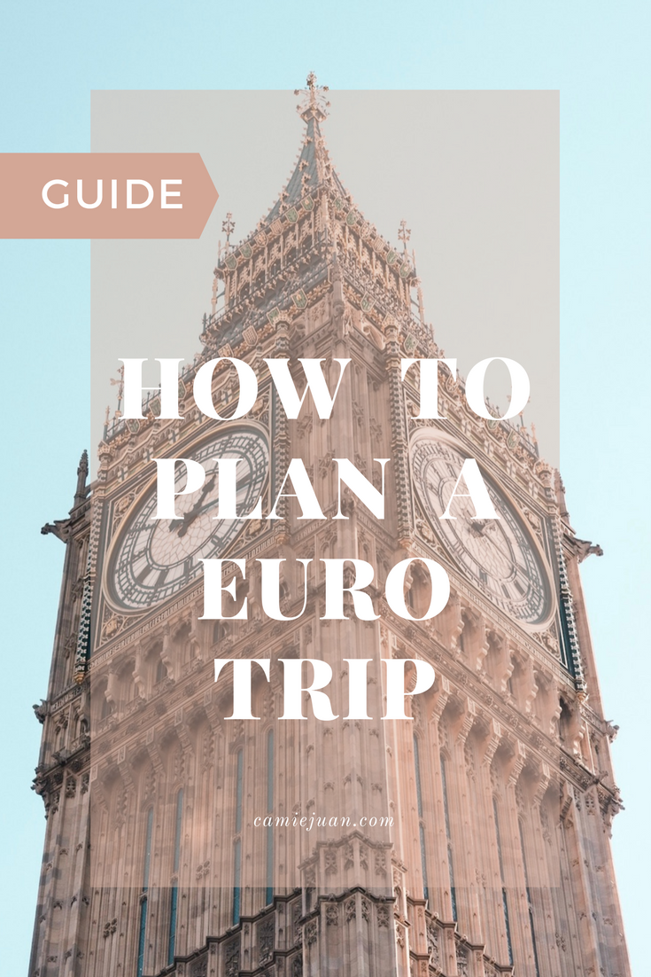 how to plan your eurotrip camie juan
