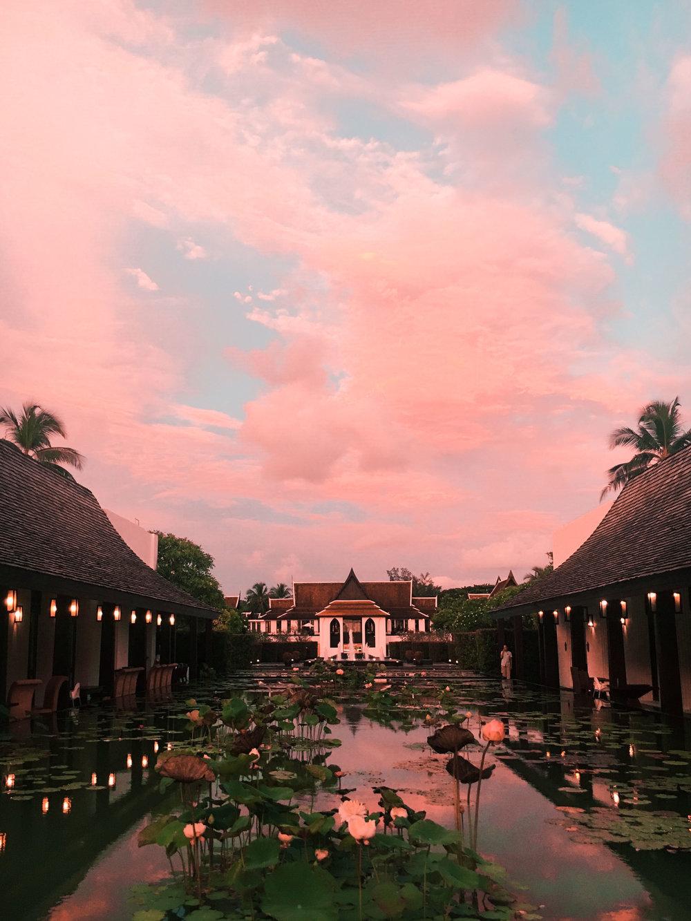 Marriott Khao Lak during sunset