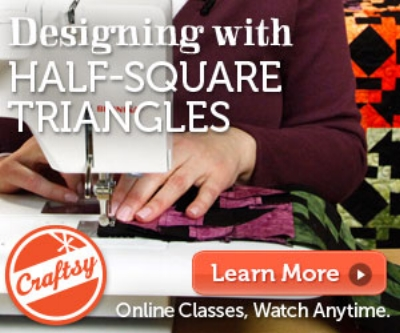 Designing with Half-Square Triangles class on Craftsy.com