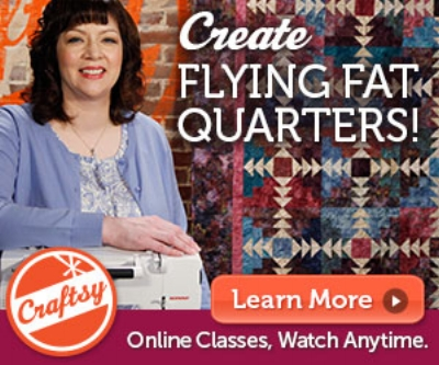 Flying Fat Quarters class on Craftsy.com