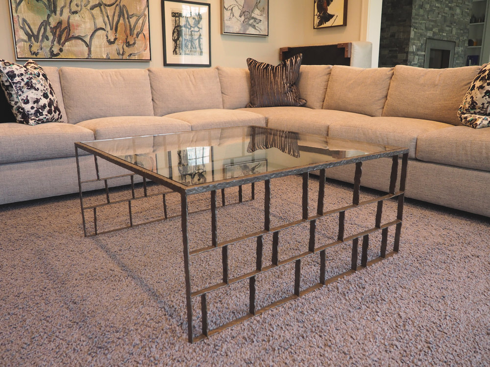Hammered Coffee Table Custom Furniture Design And Build Studio In - Detroit coffee table