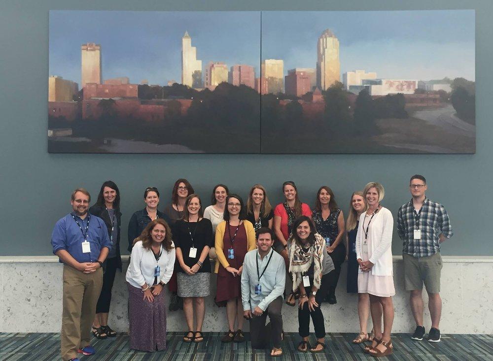 The 2017-2018 EDEx Educators Cohort: 15 amazing educators from across North Carolina.