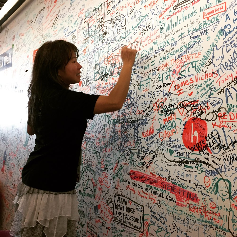 Signing the Facebook wall