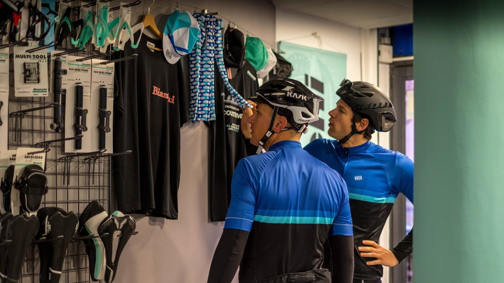 Bycicle accessories   In our store you can find everything you need to enjoy cycling.  On request we can supply GPS devices, helmets, shoes, cycling shoes and clipless pedals.
