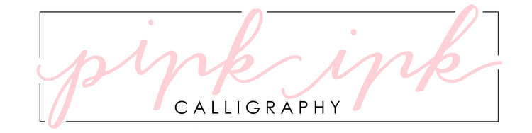 Pink Ink Calligraphy
