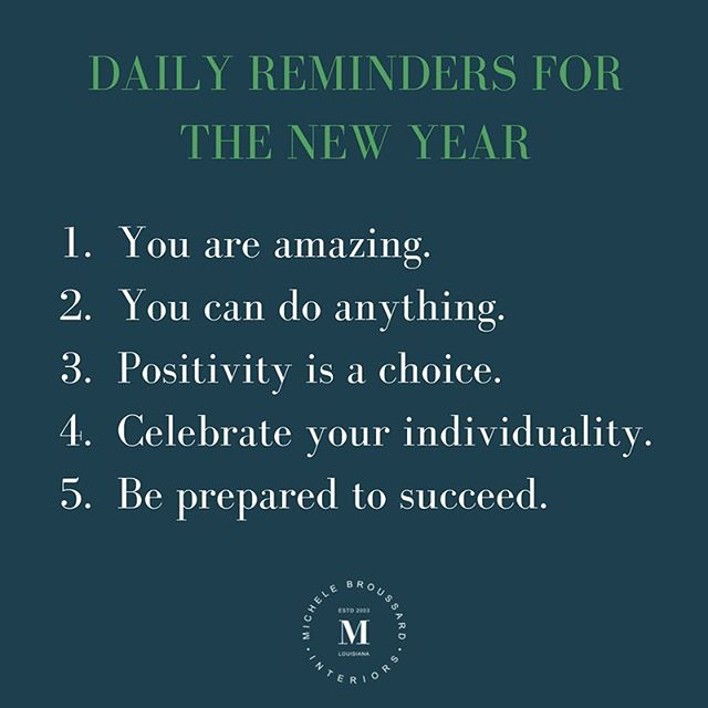Resolutions may not be my thing but lifestyle changes are. Love yourself enough to do these things daily. #michelebroussardinteriors #trendyyettimeless #2018 #lifestyle #changes #resolutions #pursuepretty