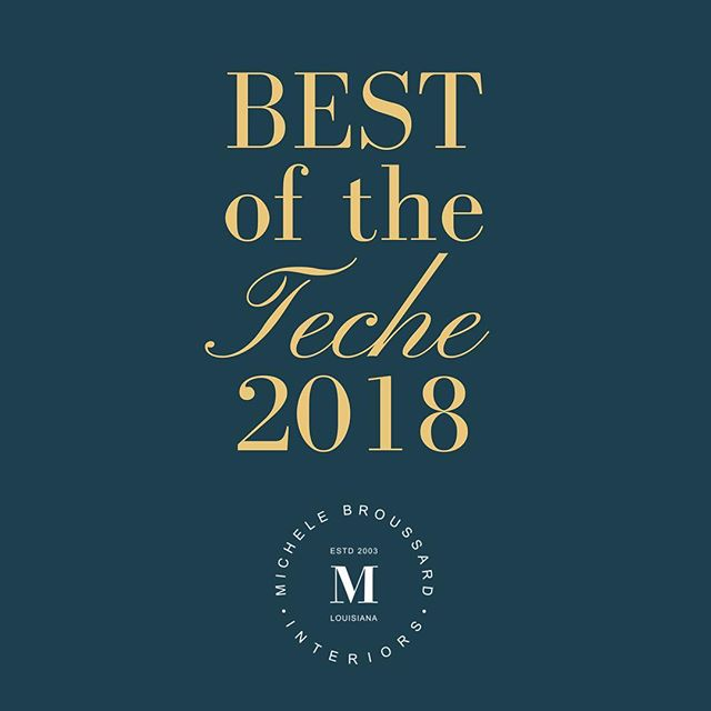 Thank you for voting me Best of the Teche for the second year in a row!  I appreciate it! And now back to work! #bestoftheteche #newiberia #louisiana #interiordesign #interiordecorating  #southernliving #homedesign #grateful