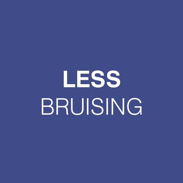 LESS BRUISING