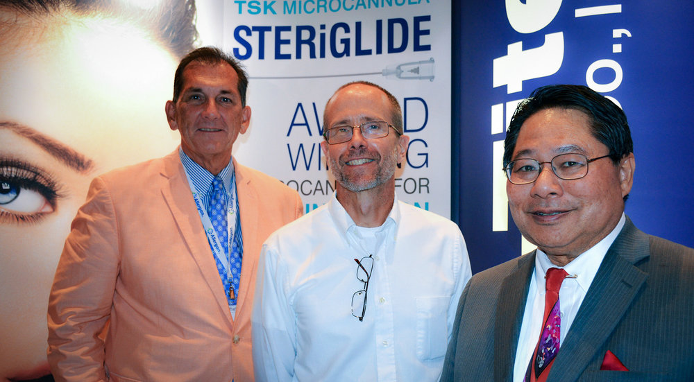 Pictured left to right: Air-Tite Products Company, Inc., Air-TiteAesthetics.com, Craig Johnson, Director Marketing and Sales, Neil Garnache, President and Dr. Garry Lee.