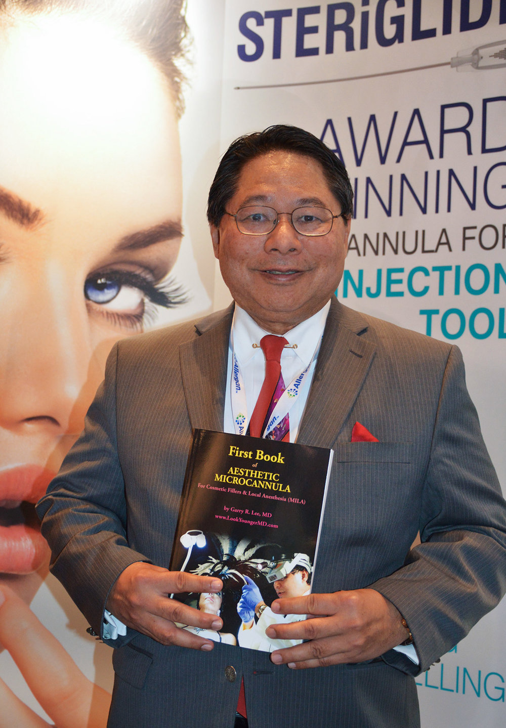 Dr. Garry Lee at THE Aesthetic Show, Las Vegas in July, 2016