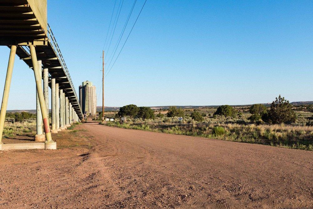Unusual structures in the Arizona desert.