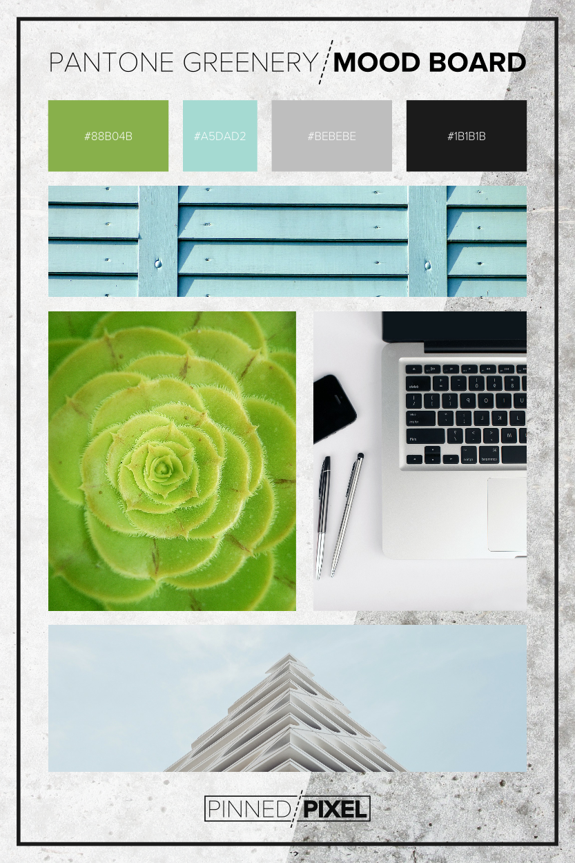 Pantone Color of the Year Inspired Mood Board: 2017 / Pinned Pixel