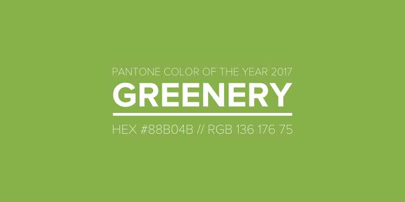 Pantone Color of the Year 2017 Greenery / Pinned Pixel