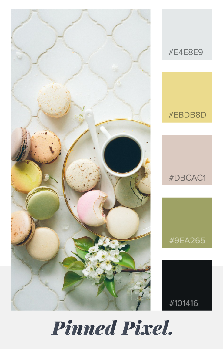 Spring Time Vibes Color Palette / Pinned Pixel