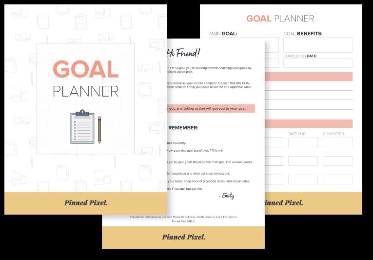 Goal Planner - Pinned Pixel