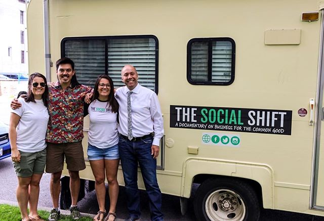Big shout out to @andyfillmorehfx for being one of our biggest supporters and for taking the time to sneak away from Parliament to check out the rig!! #thesocialshift