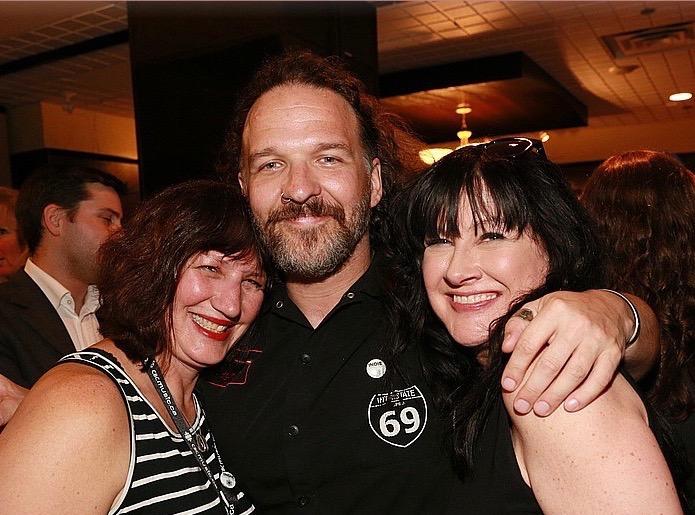 Last Tango's Yvonne Valnea with  Poncho Parker of 1053 The Rock & CITI FM